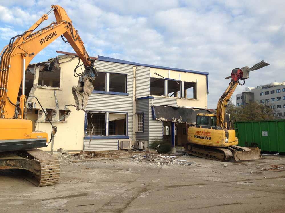 La Soie Villeurbanne déconstruction de bureaux